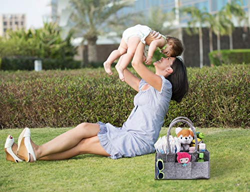 Nubblez Baby Diaper Caddy Organizer Portable Design Durable FELT Material - Multi-function Organizer