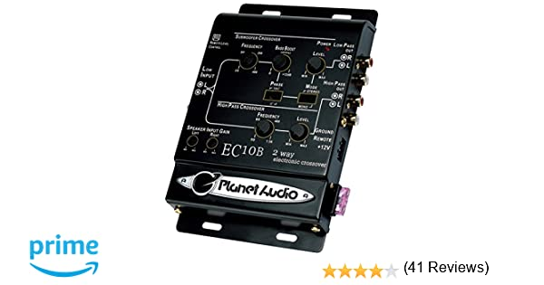 Amazon.com: Planet Audio EC10B 2-Way Electronic Crossover With Remote Subwoofer Control: Car Electronics