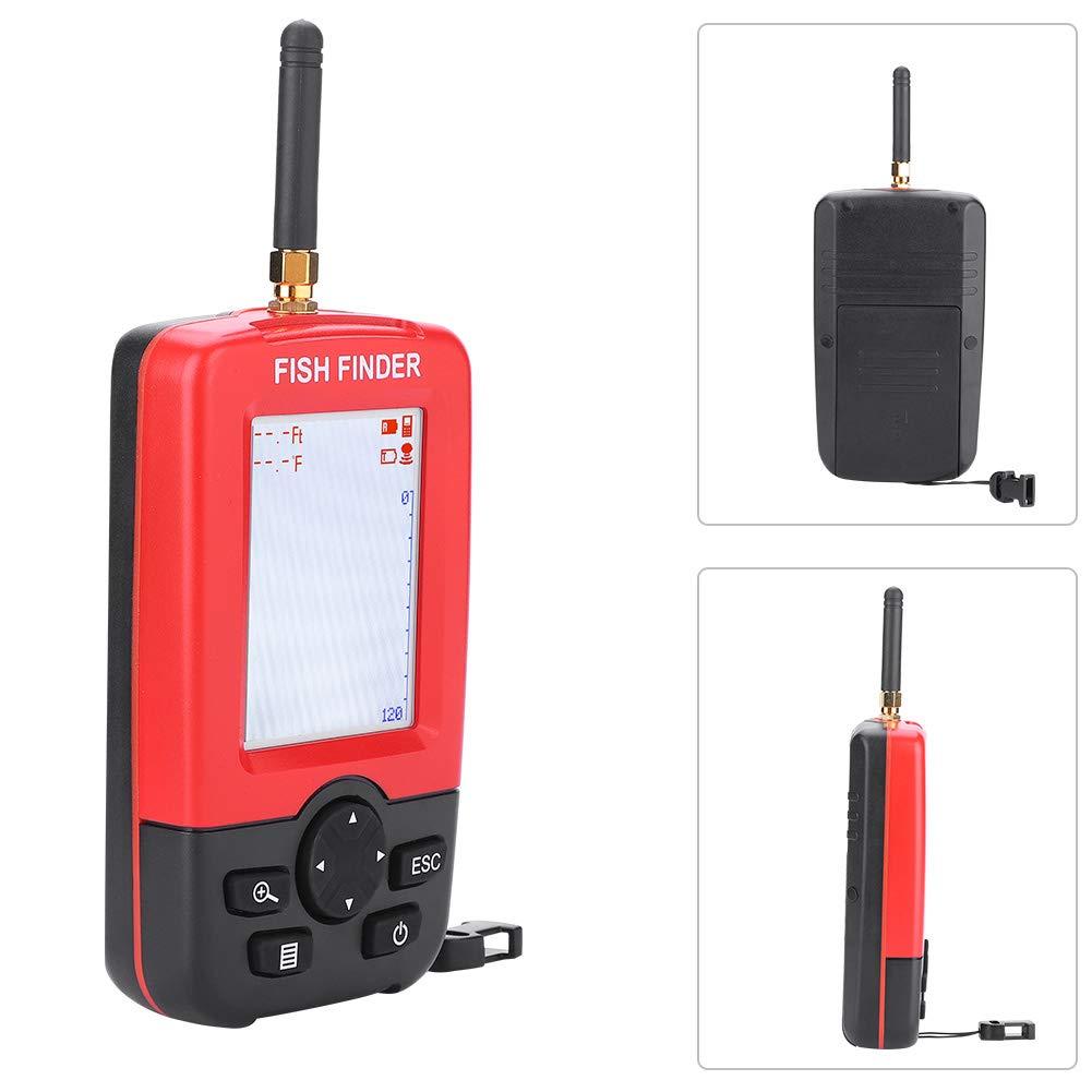 Jacksking Fishfinder Sonar Sensor Fishfinder 100M Funk Sonar Sensor Fishfinder Echolot Fish Finder Fisher Tackle Zubeh/ör