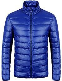 Men's Down Puffer Jacket Coat Ultra-Lightweight Packable Waterproof With Travel Bag