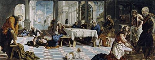 Jacopo Tintoretto Christ Washing The Feet of his Disciples Museo Nacional del Prado 30