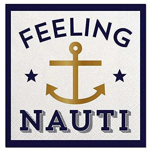 Feeling Nauti Cocktail Beverage Napkins 20 count