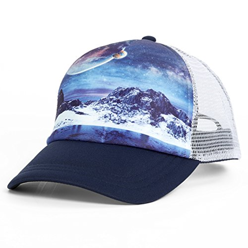 Turtle Fur Picture This Trucker Hat Mountain Views Space Out ()
