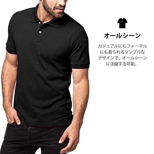 (ラパサ) Lapasa ポロシャツ メンズシャツ 半袖 無地 超長綿素材 カノコ カジュアル トップス Tシャツ ゴルフシャツ カットソー アウトドア シンプル M19M49