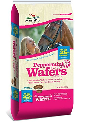 (Manna Pro Peppermint Horse Treat Wafers, 20 lb)