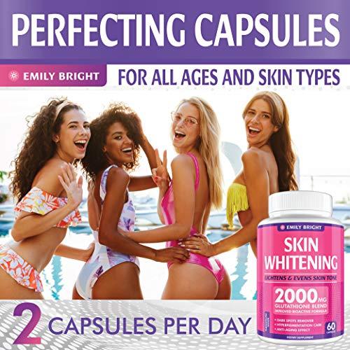 Glutathione Whitening Pills - 2000mg Glutathione - Better than Skin Lightening Cream - Dark Spots & Acne Scar Remover… 5