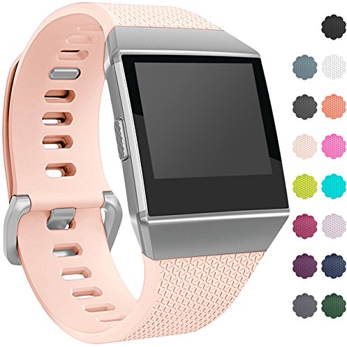 Wepro Fitbit Ionic Watch Band, Bands Replacement Sport Strap Accessory for Fitbit Ionic Smartwatch, Buckle, Blush Pink, Small