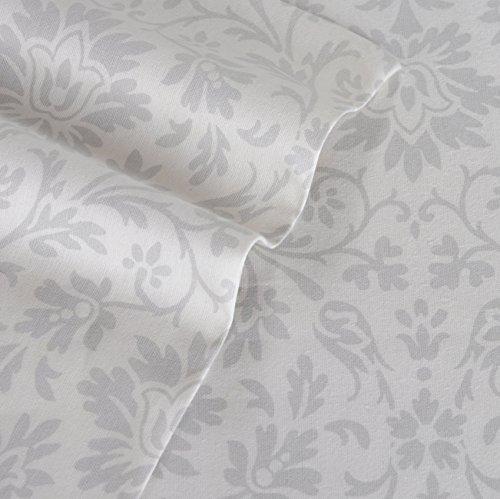 Laura Ashley Flannel Queen Sheet Set: Laura Ashley Jayden Flannel Sheet Set, Queen, Gray