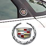 Deselen - EBS-BT08 - Cadillac Emblem Logo Symbol Metal Decals Labeling Car Stickers for Escalade ATS SRX XTS CTS XT5 XLR, Hitch Tailgate Hood Emblem, 1 Pack