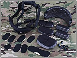 Airsoft Paintball Helmet Dial Liner Kit Fit for Ops Core FAST MICH Helmet Black