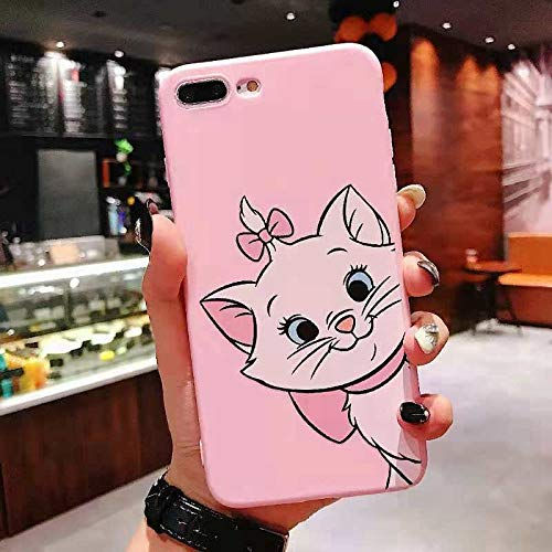 Fitted Cases - Marie Cat Cartoon Case for iPhone 6 6S 7 8 Plus Matte Painting TPU Silicone Case for iPhone Xs FXX XR X S Back Cover Coque Capa - by Florence_Xavia - 1 PCs