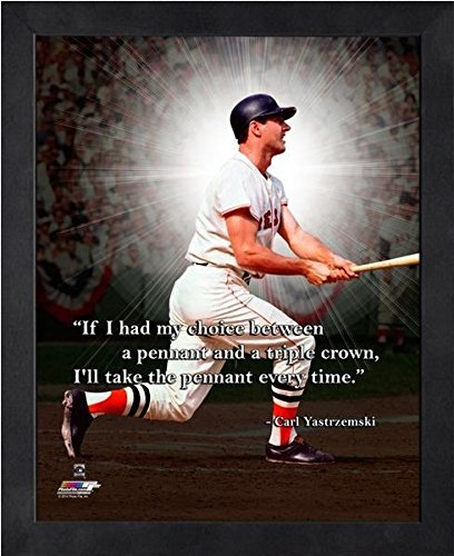 (Carl Yastrzemski Boston Red Sox Pro Quotes Photo (Size: 9