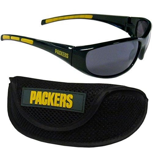 Siskiyou NFL Green Bay Packers Wrap Sunglasses & Sport Case, Green by Siskiyou