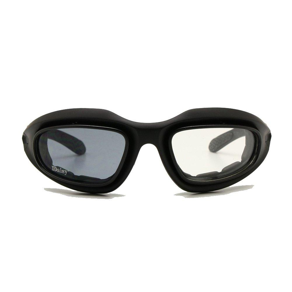 EnzoDate Daisy C5 Armee Brille polarisiert 4 Objektiv-Kit, Outdoor-Sportarten militärische Sonnenbrille Kriegsspiel Motorrad Fahrrad für Männer