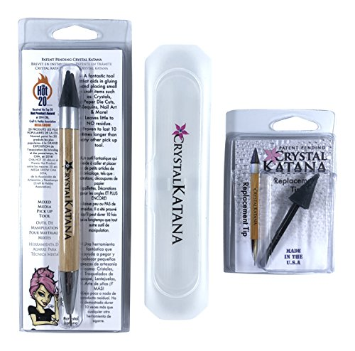 Crystal Katana Rhinestone Applicator Ultimate Kit: Includes Crystal Katana, Replacement Tip, and Storage Case by Crystal Ninja