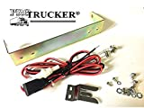 25 bracket - Pro Trucker CB Radio Mounting Kit for Cobra 25 and Uniden 68 Series Radios, Includes Power Cord, Knobs, Mic Clip & Bracket