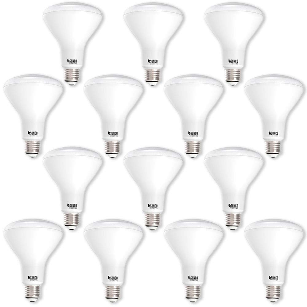 Sunco Lighting 14 Pack BR30 LED Light Bulb 11 Watt (65 Equivalent) Flood Dimmable 3000K Kelvin Warm White 850 Lumens Indoor/Outdoor 25000 Hrs for Use in Home, Office and More UL & Energy Star Listed