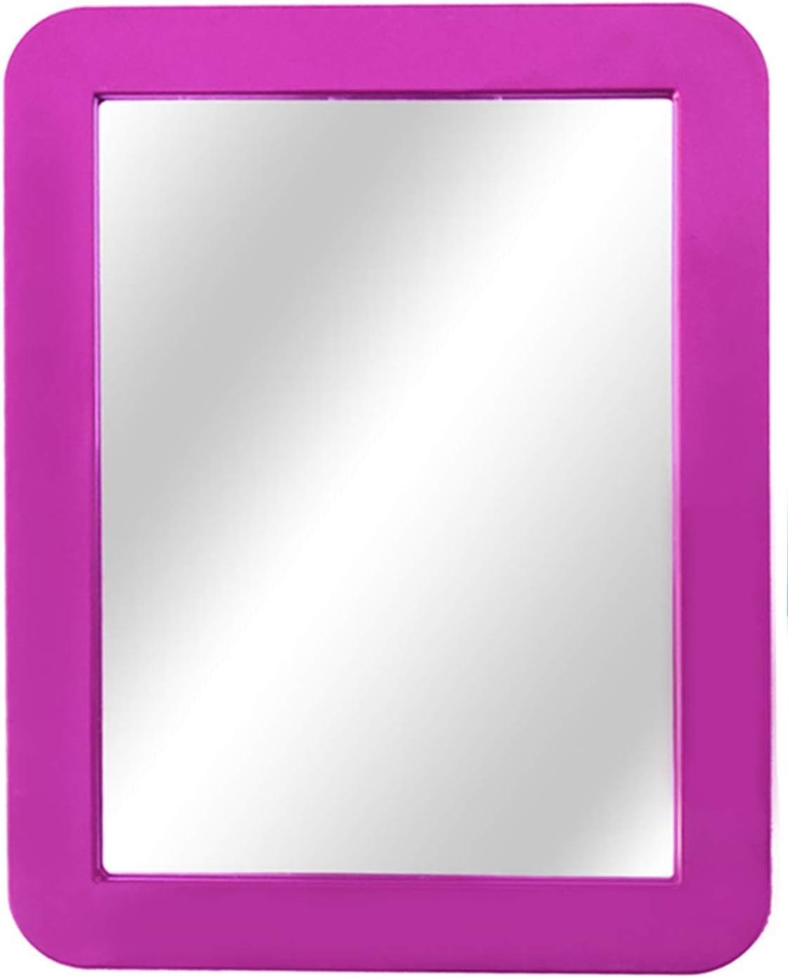 "Magnetic Locker Mirror, School Locker, Whiteboard, Gym Locker, Refrigerator, Office Cabinet, Magnetic Makeup Mirrors, Locker Accessory, Toolbox, 5"" x 7"", Pink"