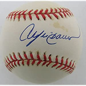 Andre Dawson Montreal Expos/Chicago Cubs Signed ONL Baseball JSA 136571