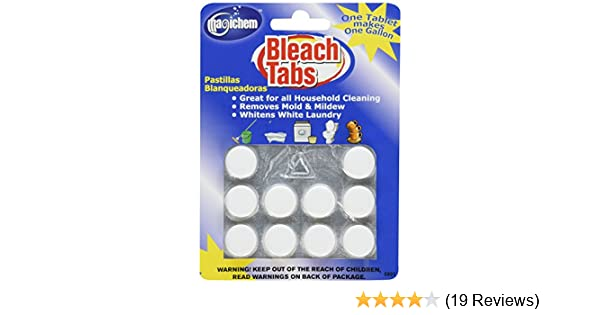 Amazon.com: Magichem Bleach Tabs (makes 10 gallons of bleach per card- 4 cards per order): Health & Personal Care