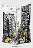 Home Decor Tapestry Wall Hanging Oil Painting On Canvas Street View Of New York Man And Woman Yellow Taxi Modern Artwork New 500504053 for Bedroom Living Room Dorm