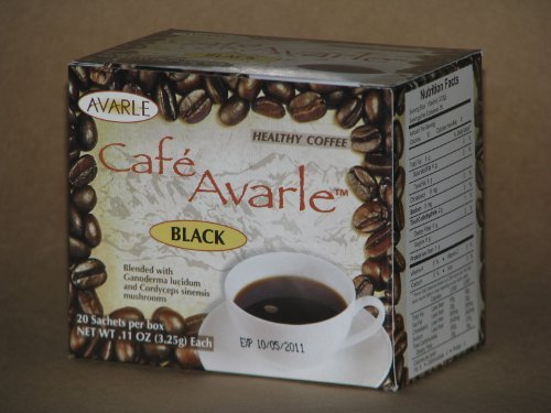 Cafe Avarle Black Healthy Coffee with Ganoderma & Cordyce...
