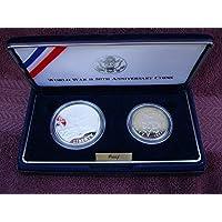 Conjunto de monedas conmemorativas del 50 aniversario de la Segunda Guerra Mundial