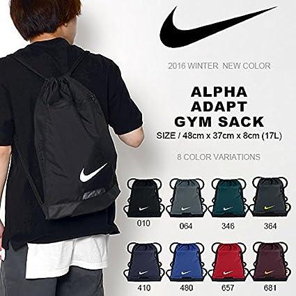 a59d5098e0 Amazon.com  Nike Men s Alpha Gym Sack (Black Black White)  Nike  Sports    Outdoors