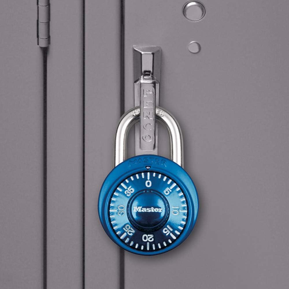 Master Lock 1530T Locker Lock Combination Padlock Assorted Colors 8 Pack