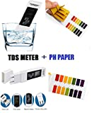 Water Quality Test Meter Digital Tool TDS&EC with PH Test Strips 4 in 1 Set , Temperature 0-9990 ppm Measurement