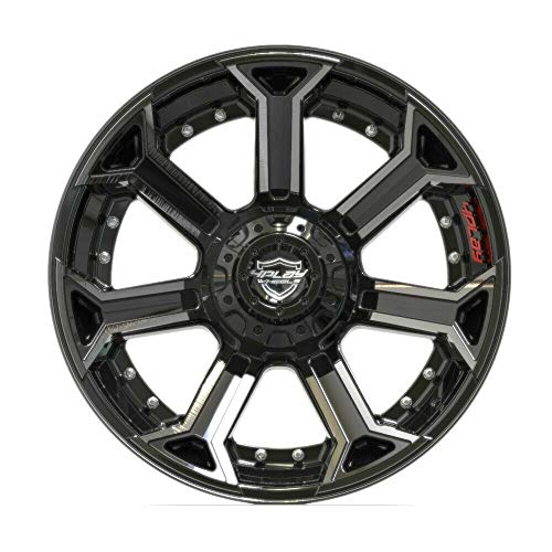 Partsynergy Replacement For Aluminum Alloy Wheel Rim 22 Inch Fits 2007-2019 Jeep Wrangler 4P70 Brushed Black - Replica Wrangler New Rim