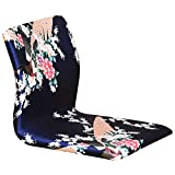 D&W Adjustable Floor Chair, Foldable 5-Position multiangle Cushioned Recliner Tatami ergonomics Portable Sofa Chair -Blue 45x37x43cm(18x15x17inch)
