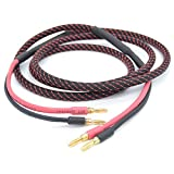 Creative Dream High-power banana plug sound box line Black and Red braid Multimedia super abrasion resistance Coaxial Cables (4M)