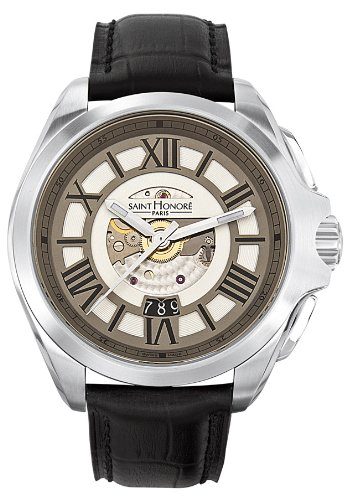 Saint Honore Men's 880065 1AR Coloseo Automatic Black Leather Exhibition Watch