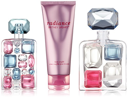 Britney Spears Radiance for Women Gift Set (Eau de Parfum Spray 1.7 Ounce, Eau de Parfum Spray Mini Splash 0.16 Ounce, Body Shuffle)