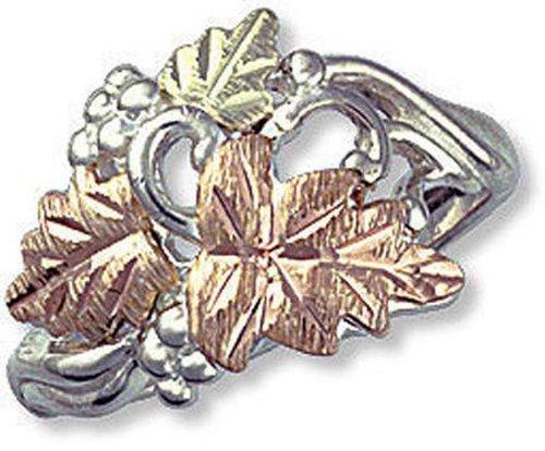 Landstroms Sterling Black Hills Silver Ladies Ring with 12k Gold Leaves - MRL02907