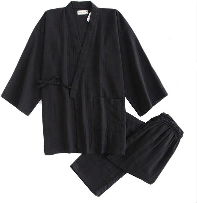 Traje de Pijama de Traje de Pijama de algodón japonés de Doble ...