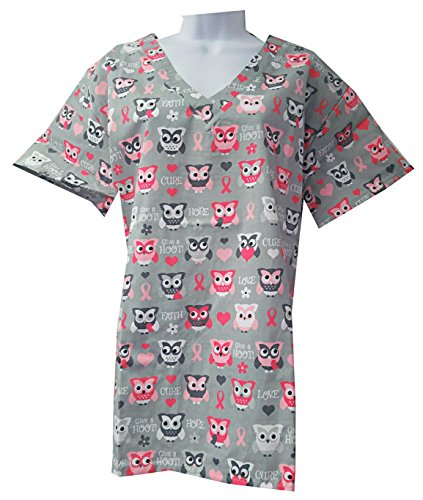 New Women Nursing Scrub (Zikit NY Women's Printed Nursing Medical Scrub Top Plus Sizes XS-4X (Plus 2X, Pink))