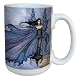 Tree-Free Greetings lm43542 Fantasy Cloak of Stars Fairy Ceramic Mug with Full Sized Handle by Amy Brown, 15-Ounce