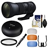 Tamron 150-600mm f/5-6.3 G2 Di VC USD Zoom Lens with Tap-in Console + Filter + Flash Diffusers Kit for Canon EOS Cameras