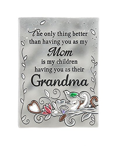 Ganz Inspirations Family Grateful Heart Mini Message Plaque Magnet Grandma-ER59715 (Heart Message Plaque)