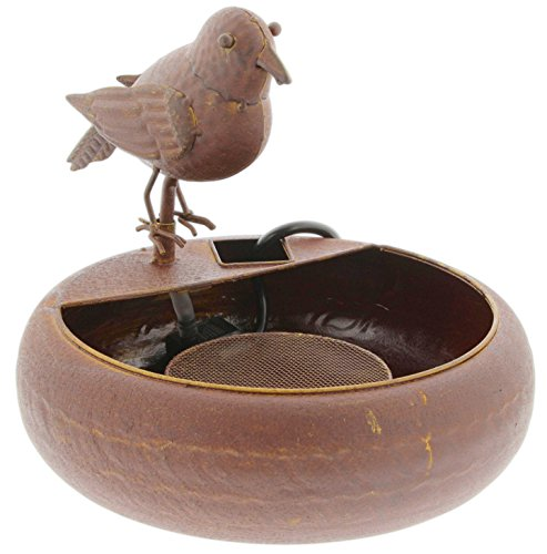 Park Hill Tabletop Fountain Faux Antiqued Metal Bird 12'' by Park Hill