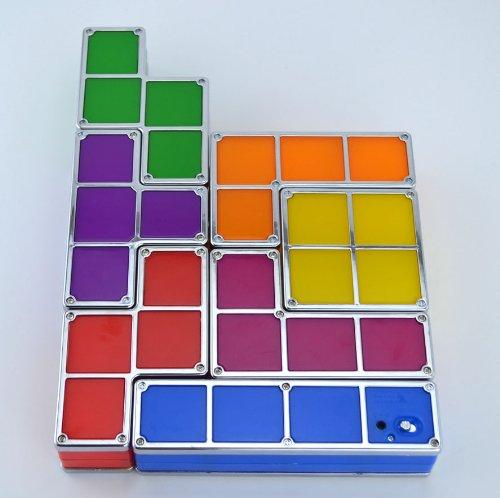 Samyo Retro Game Style Tetris DIY LED Light Constructible Stackable Desk Night Lamp Kids Gift
