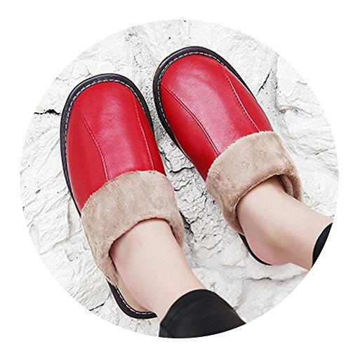 por estar de Rojo TELLW para algodón mujer casa de Zapatillas ECqCwx15t