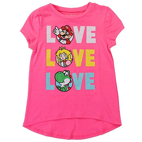Nintendo Girls' Mario, Yoshi, and Princess Peach Tee for sale  Delivered anywhere in USA