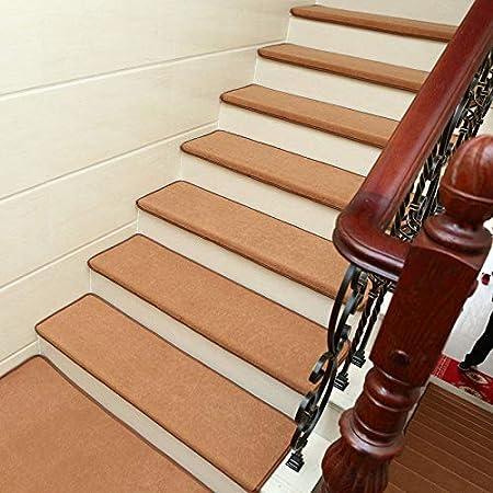 Antideslizantes para escaleras Autoadhesivo Almohadilla De La Escalera Alfombra De Escalera De Casa Square Thicken Step Rug Decoración Interior TZXSHO (Color : Brown(90x24x3cm), Size : 10pcs): Amazon.es: Hogar