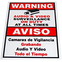GW Security 18 x 12 Inches Warning Security Sign for CCTV Security Camera Surveillance Video System