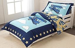 KidKraft Toddler Airplane Bedding Set (4-Piece)