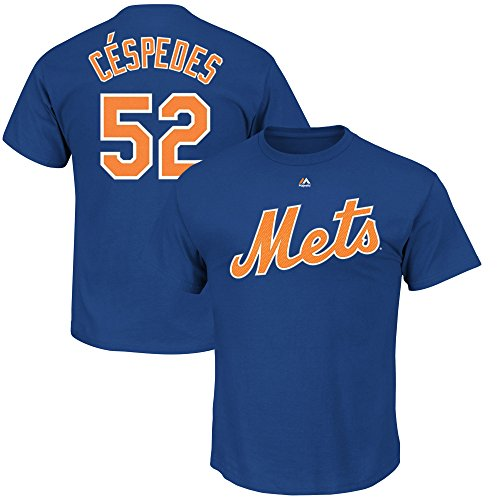 Yoenis Cespedes #52 New York Mets Youth Player Name Number T-Shirt (Youth Small 8)
