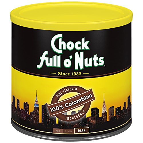 Chock Full o'Nuts Coffee, 100% Colombian Medium Roast Ground, 24 Ounce